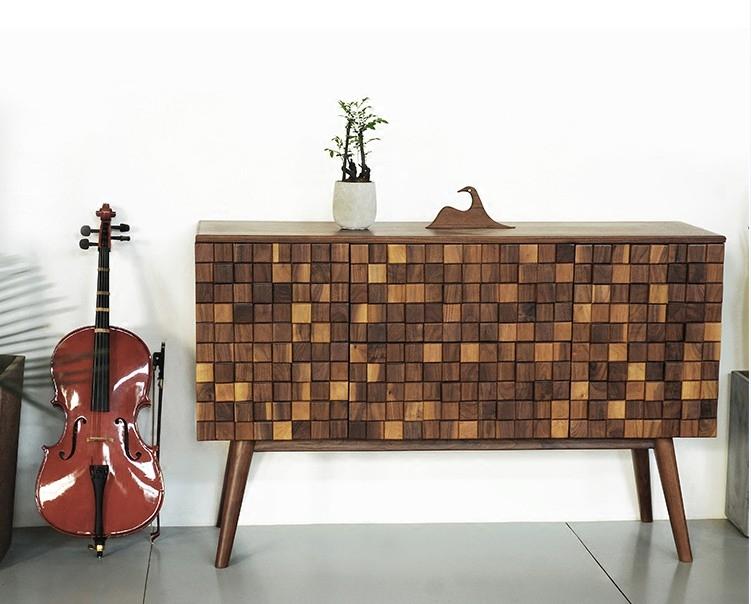 Нордический творческий мозаика твердая деревянная обедая сервант вход кабинет от имени джейн примерно орех хранение кабинет обувной сделанный на заказ
