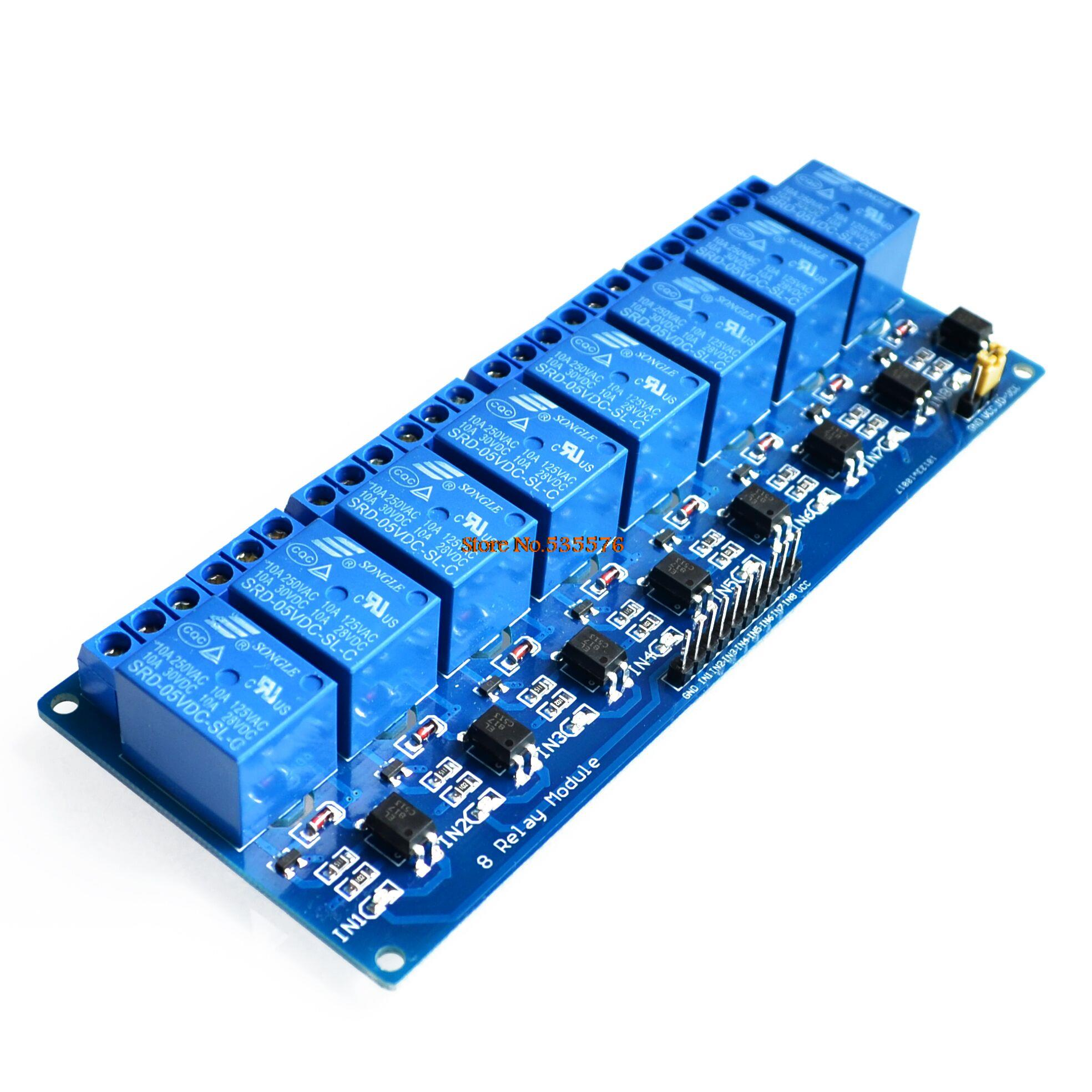 With optocoupler 8 channel 8-channel relay control panel,可领取元淘宝优惠券