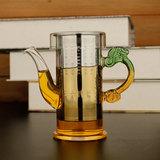 耐热玻璃红茶泡茶壶茶具 不锈钢过滤茶壶冲茶器 普洱红茶功夫茶壶