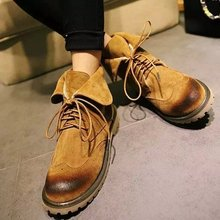 2015 autumn designer shoes retro England two wear shoes lace-up shoes boots boots in hot style shoes