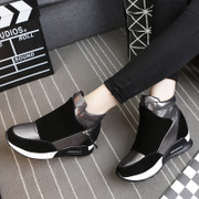 Casual shoes girl Korean version and cashmere increased in thick-soled sneakers winter shoes Hi Joker tying student shoes