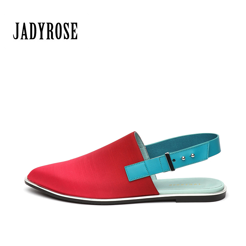 Jadyrose pointed 2017 female new Baotou cloth sals  shoes women after the air spring