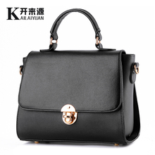 2015 new tide female bag contracted grain small sweet wind finalize the mini one shoulder his mail KLY8855 small bag