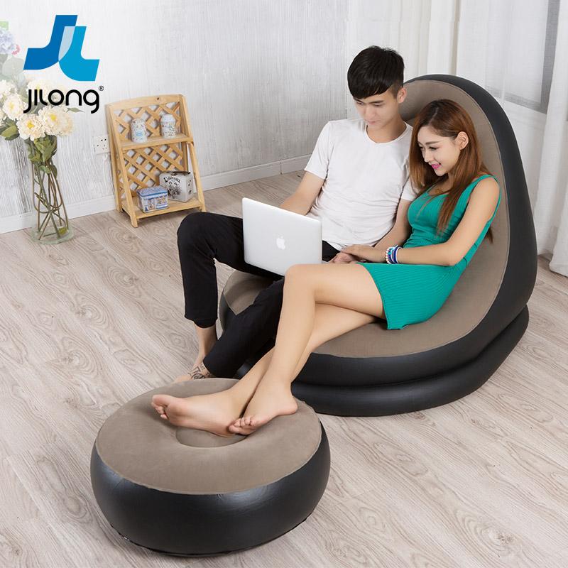 吉龍 懶人沙發 充氣沙發椅 可愛 單人午休椅 可折疊躺椅