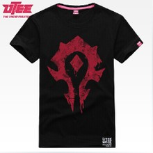 World of warcraft pure color clothes to tribes men cotton short sleeve T-shirt Warcraft game peripheral T-shirt