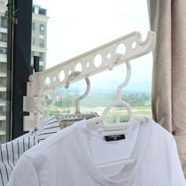 Window frame hanger rack clothes rod drying rack out rental student dormitory clothes hook travel drying hanger rod