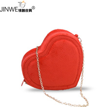 The new 2015 heart-shaped package heart-shaped package BaoTao heart love summer chain package inclined shoulder bag handbag mini bag bag