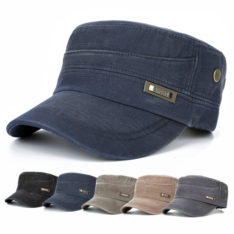 帽子男夏天平頂帽 遮陽帽防曬帽太陽帽 棒球帽軍帽鴨舌帽