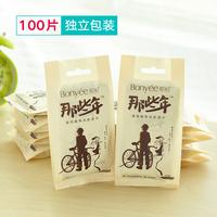 100 лист независимости пакет пакет 10 пакет портативный наряд портативный монолитный для взрослых салфетки бумага чистый здравоохранения мокрый бумажные полотенца