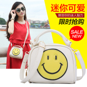 ZYA small bag for fall/winter new 2015 tide cartoon smiley Pack double layer Mini baodan Crossbody handbag shoulder bag
