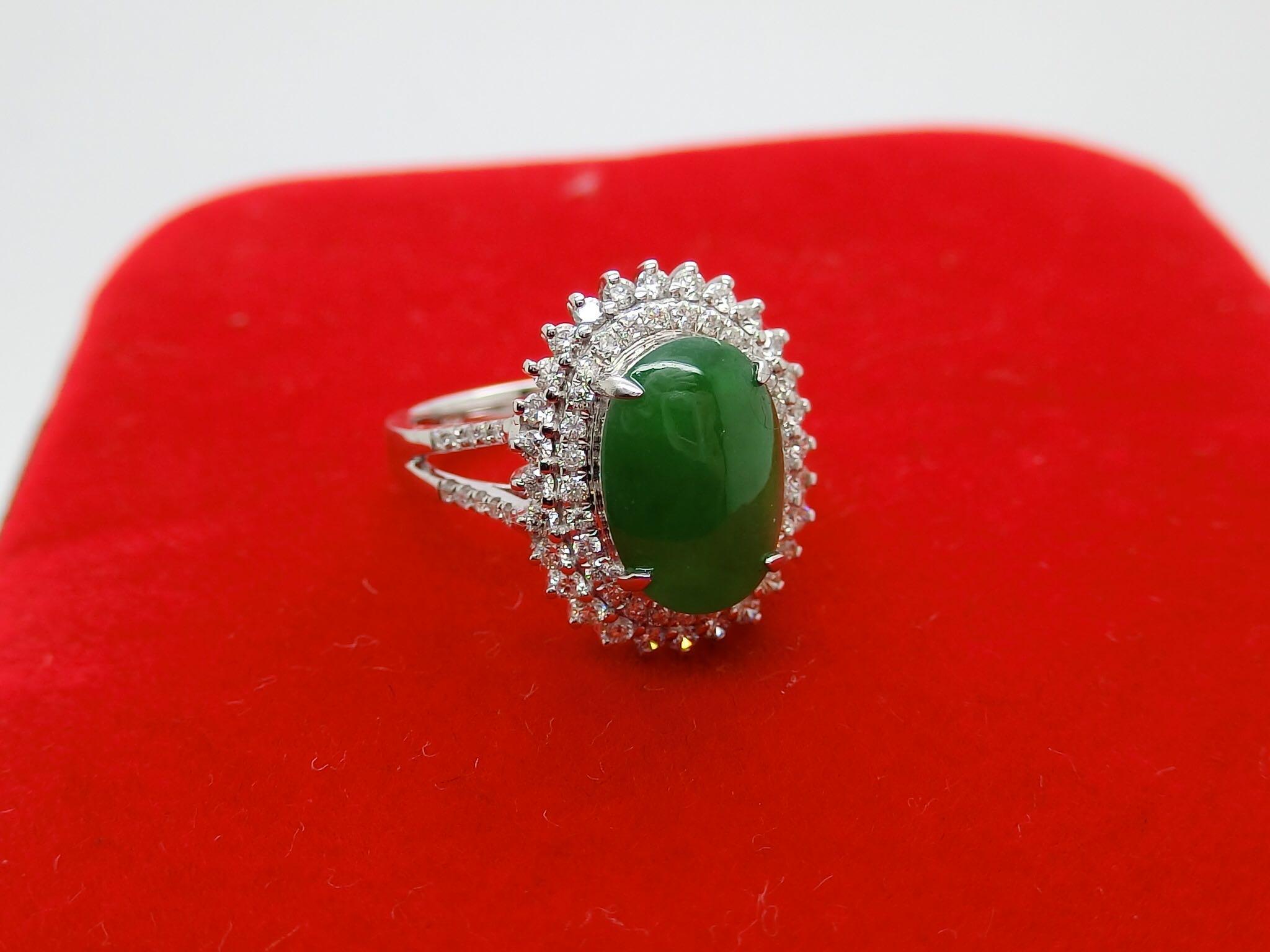 18K钻石翡翠彩宝珊瑚珍珠碧玺欧泊戒指吊坠手链镶嵌首饰加工定制