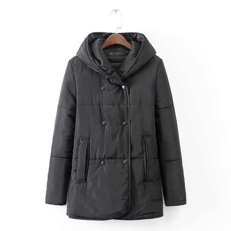 Брайан новой корейской моды одежды зимние пальто хлопка мягкий длинный толстый твердый цвет диких дамы в зале