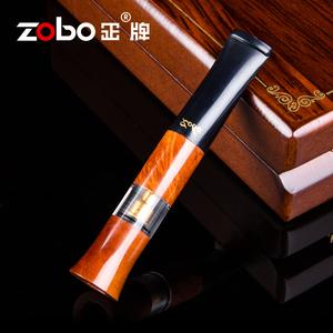 Zobo正牌高档石楠木烟嘴 微孔过滤循环型可清洗男士商务礼品烟具