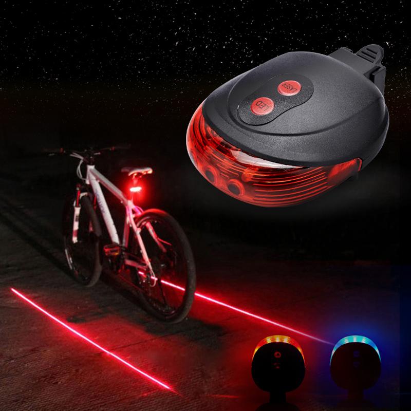 Велосипедов света лазерный безопасности предупреждение хвост света хвост света зарядки параллельные линии горный велосипед умер летающих аксессуары езда gear