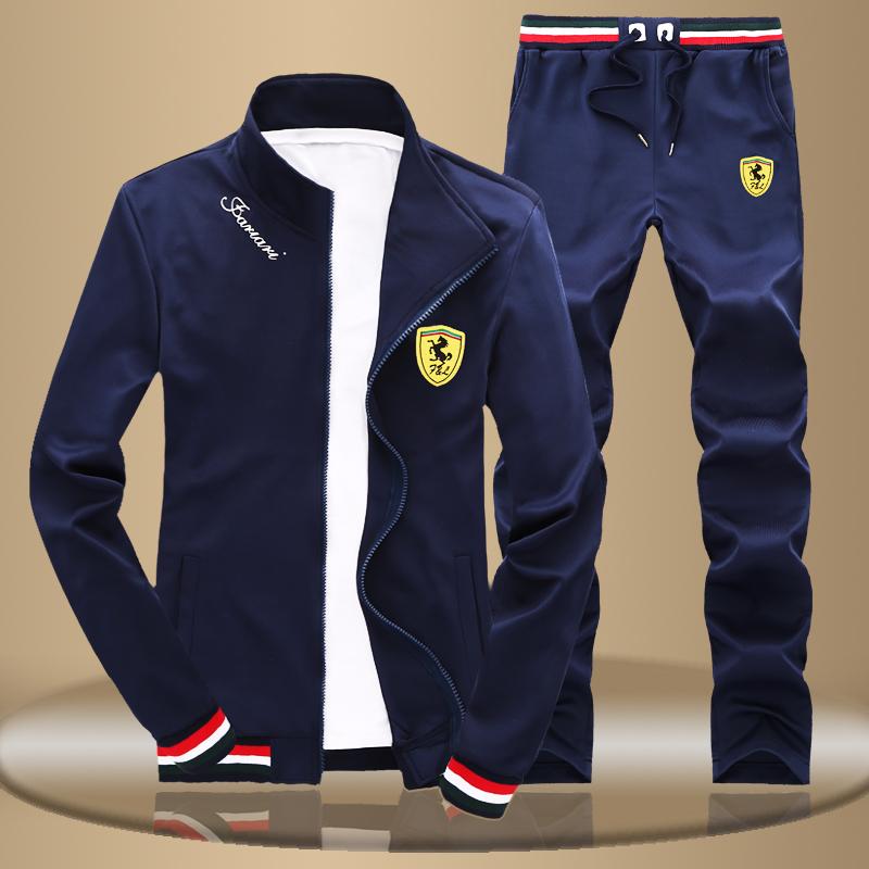 New autumn  winter youth recreational sports suit male Korean collar sweater sportswear cotton Slim jacket tide