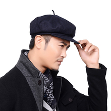Walk, the old man hat man about winter wool outdoor octagonal cap cloth hat man qiu dong men's hat