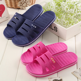 Summer leaking bathroom slippers non-slip bath home interior flooring plastic household men and women couple sandals and slippers
