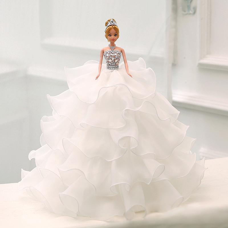 D 家居用品婚紗芭比娃娃客廳房間裝飾品擺件結婚 簡約