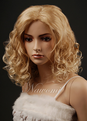 Ms wig long curl of fluffy cute cartoon short curl hair COS pear flower head W343 in Europe and America