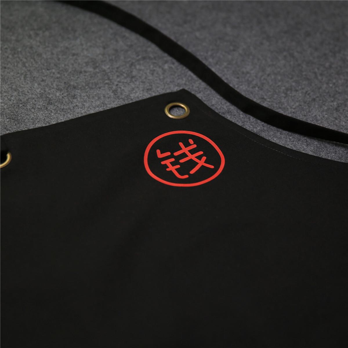 免费定制百家姓打孔纯棉帆布防污/防泼水厨房日式时尚创意围裙服