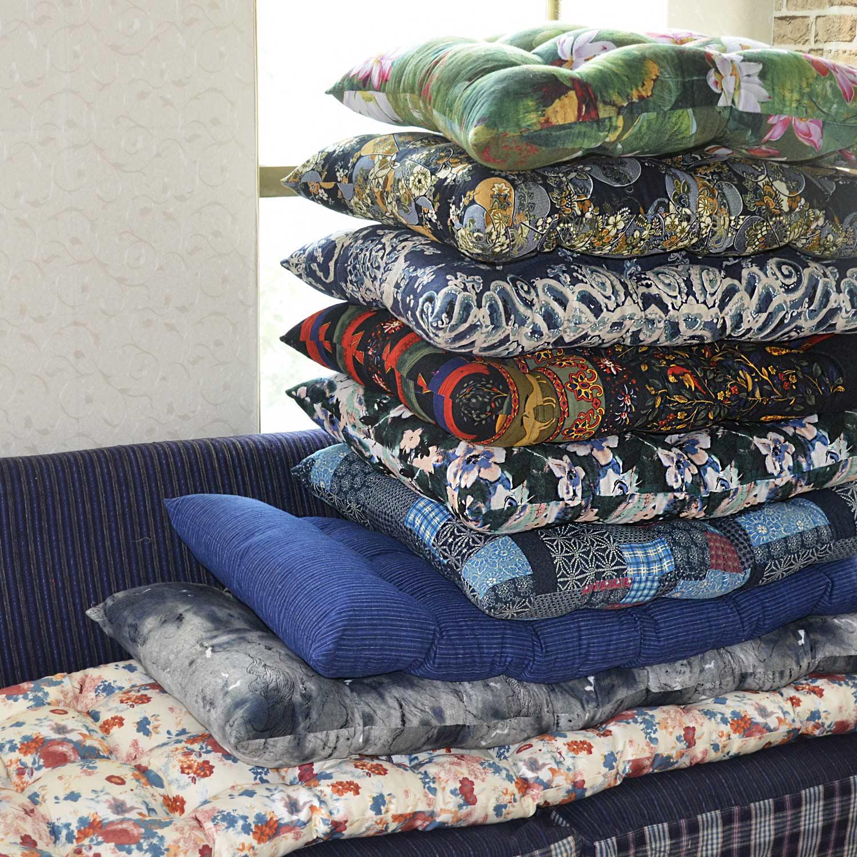 丹凤创意:各色田园棉麻加厚手工钉线凳子垫椅垫沙发垫地垫飘窗垫