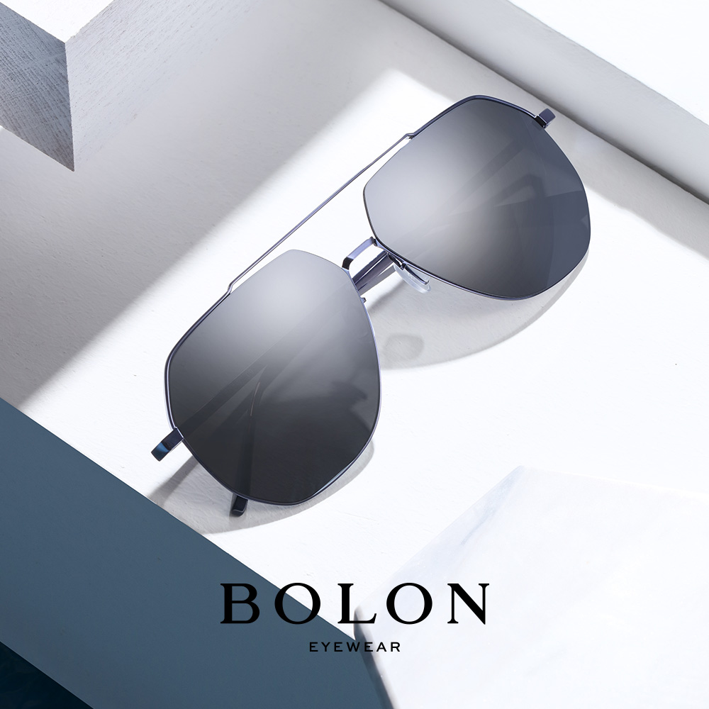 BOLON暴龙偏光太阳镜男士复古蛤蟆镜个性金属墨镜开车眼镜BL8009