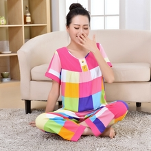 Daily specials woven silk short sleeve summer trousers, children's pyjamas sets of air conditioning leisurewear package mail