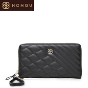 Honggu Hong Gu Ling Plaid handbag, purse Shoppe authentic 2015 new Candy-colored leather clutch 9911