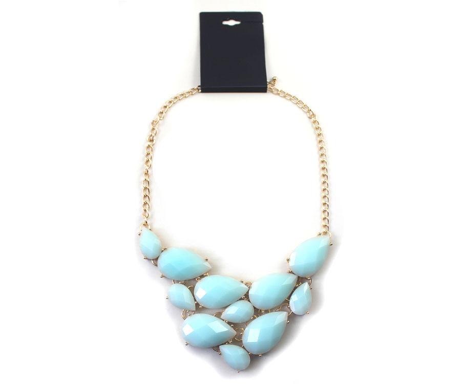 99-каратного ювелирных 21 брендов в Европе и Америке преувеличены белый | синий | черный короткие ожерелье (JT)