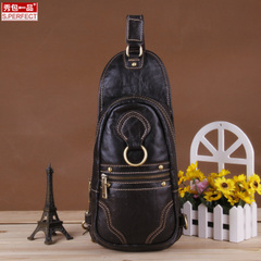 Fall/winter show packs a 2015 brand suede leather men's chest bag new wave men's backpacks Korean diagonal package