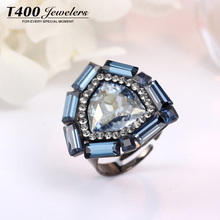 [I] love collocation T400 by Austrian crystals mouth ring size can be adjusted Jing temperament Package mail