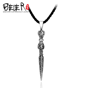 925 silver pendant personalized retro men Vajra Thai silver pendant necklace pendant fashion jewelry tide male