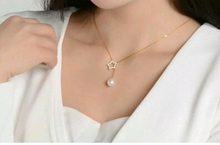 Han edition 925 sterling silver necklace female temperament natural freshwater pearl pendant accessories candy series sets of chain can be adjusted