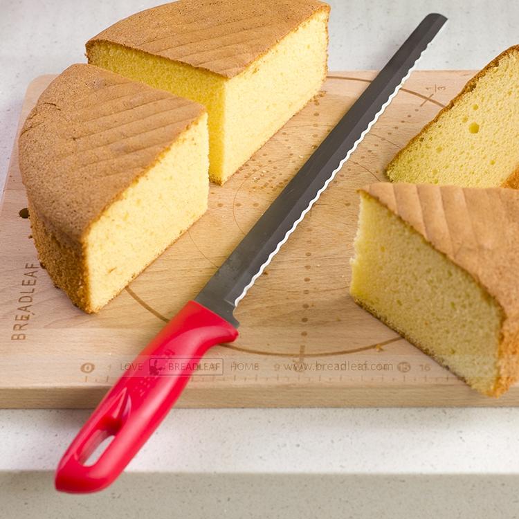 Длинный [面] пакет [刀 蛋糕刀 蛋糕切片刀 27CM刀刃 波浪刃]
