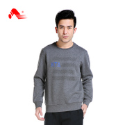 Fall/winter recreation tread new fashion sweater knitted sweater round neck thickened male middle-aged sports long sleeve t-shirt
