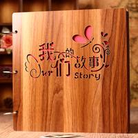 Деревянный diy альбомы ручной работы творческий любители романтический альбомы это тень коллекция годовщина книга танабата день святого валентина подарок