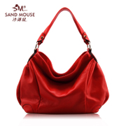 Beach mice 2015 new trends in Europe and America the first layer of soft leather handbag shoulder bag casual leather ladies bags