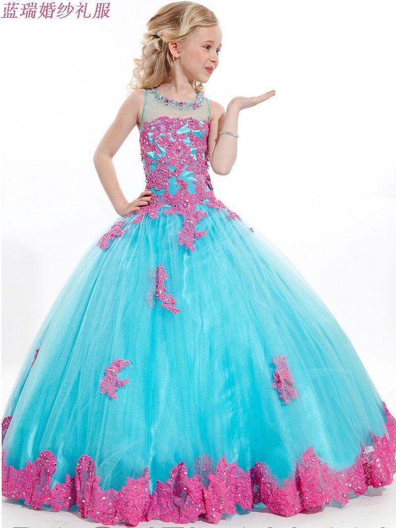 Новые детские платья вечернее платье платье принцессы костюмы девушки модели подиуме платье цветок девочки платья