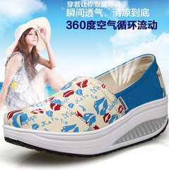 MI Ka Korean lips shook shoes women fabric breathable shoes leisure shoes thick-soled platform shoes the new 2015 winter