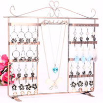 Dual-use iron rack earrings + Necklace Earrings Display frame necklace Display rack Jewelry rack