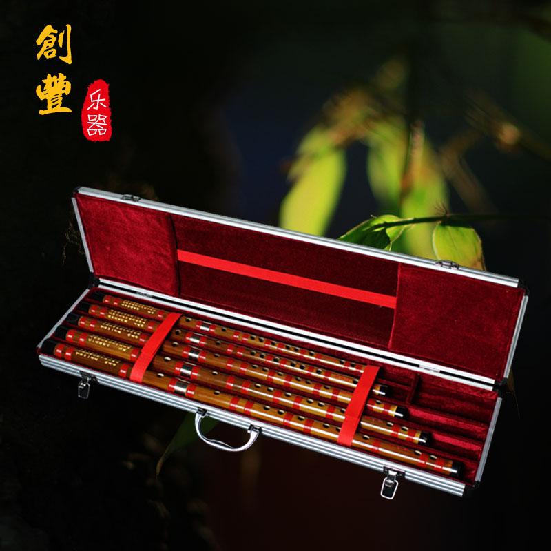 董雪�A笛子/8881套笛/竹笛/套笛��I演奏笛/送�X盒