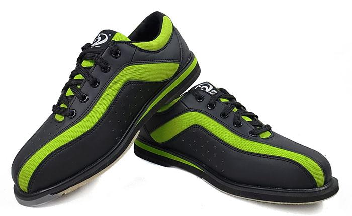 新品特价!PBS专业保龄球鞋运动潮品右手保龄球鞋男款女款 绿黑