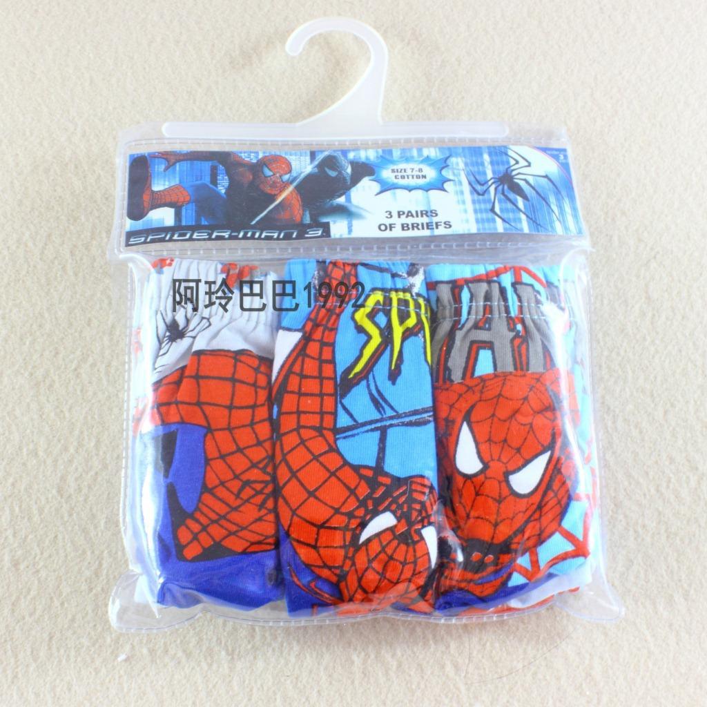 Самый продаваемый кружева-паук Паук мультфильм мальчиков хлопок дышащей белье 3 антибактериальный картридж