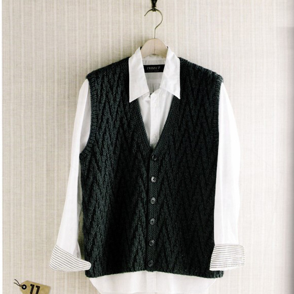 Golden hand knitted hand knitted sweater autumn winter 2018 new cardigan V-neck wool mens sweater vest_ 01