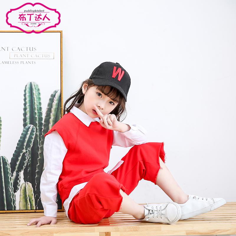 童装女童春装2018新款时髦洋气套装潮大童小孩衣服儿童韩版三