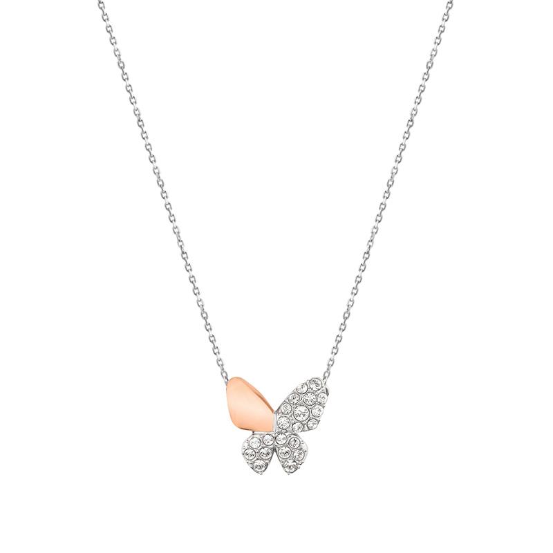 Сваровски мир странный Swarovski мисс простой бабочка кристалл текстура подвески ожерелье ключицы цепи 5074329