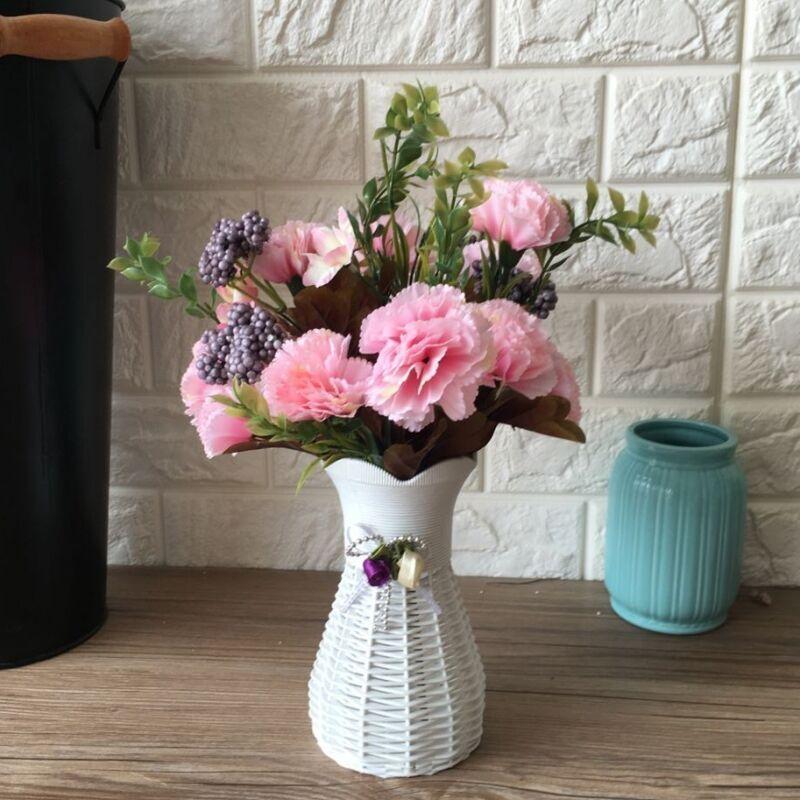 歐式仿真花假花家居餐桌插花裝飾品絹花套裝擺設