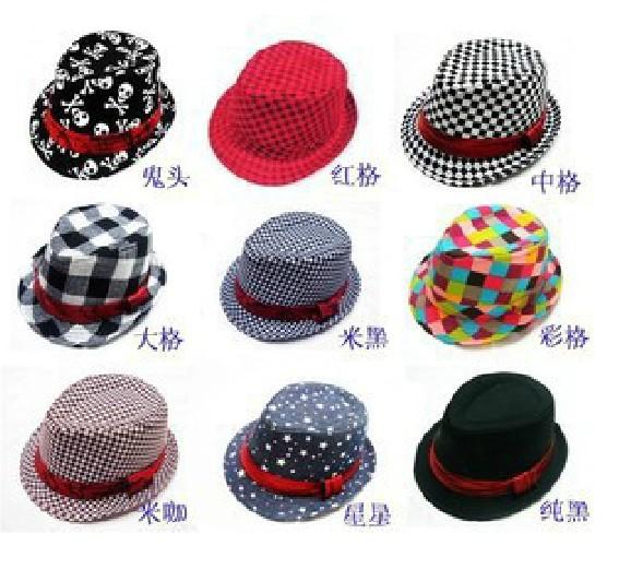 Горячая продажа! Детский джаз шляпа ковбойская шляпа стиль шляпа baby шляпу джаз шляпы ребенка шапочки для мальчиков шляпы
