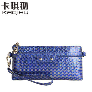 Fall 2015 kaqi Fox handbags women's mobile wallet snake chain bag leather hand bags