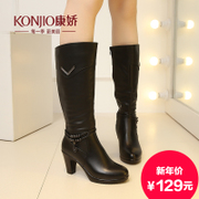 Kang Jiao 2015 fall/winter new style women boots with chunky heels sleeve Martin boots and bare boots belt buckle boots